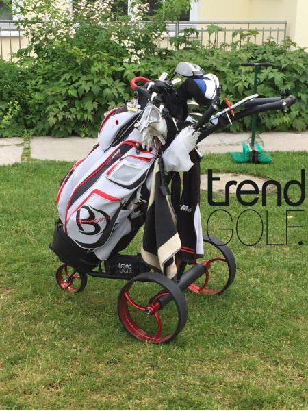 Elektro Golf Trolley streaker Edelstahl schwarz Lithium mit aktiver Bergabfahrbremse